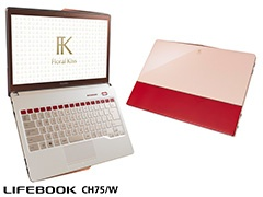 「Floral Kiss(LIFEBOOK CH75/W)」エレガントレッド with ベージュ。